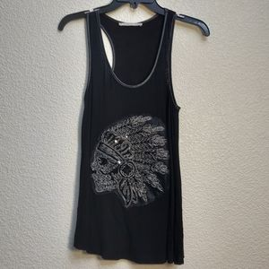 Rolla Coaster sleeveless shirt with skull applique